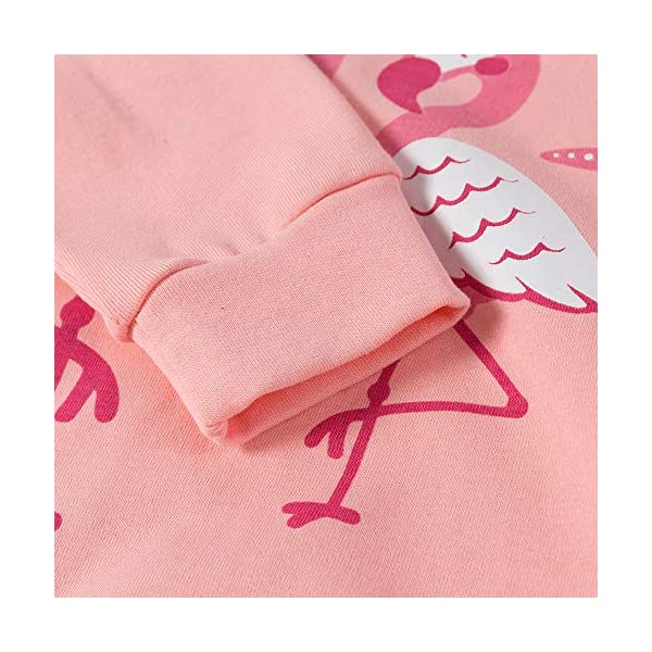 "Tkiames Bambine ""Giraffa"" 2 pezzi Pigiama a maniche lunghe per ragazze Pajama Set 100% cotone 6"