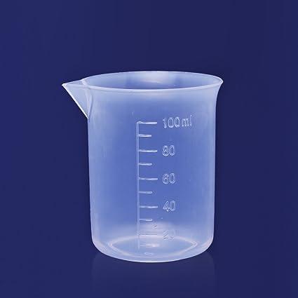 1PC 100ml Transparent Plastic Lab Graduated Beaker Measuring Cup Tool,resin  mixing cups