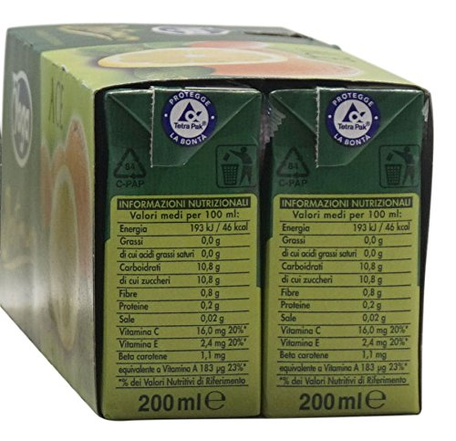 Amazon.com : Yoga: Optimum Orange+Carrot+Lemon Drink, Brick Pack of 6, 200 ml/6.76 oz : Grocery & Gourmet Food