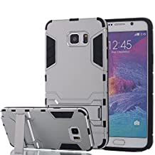Galaxy Note 5 Case, Pandawell™ [Heavy Duty] [Shock-Absorption] [Kickstand Feature] Hybrid Dual Layer Armor Defender Case Cover for Samsung Galaxy Note 5 with Screen Protector (Silver)