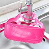 Cutting Large Bathroom Mirror KAKA(TM) Kitchenware Sponge Dish Towel Hang Drain Storage Bucket Box with Press button Style for Kitchen Bathroom Multi-purpose Shelving - Large