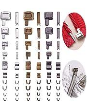 Rits Reparatieset Zip Reparatie Ritssluiting Vervangen Rits Van Zinklegering Vervangings Toebehoren Metalen Ritsen, Voor Reparatie Kleding Kofferzakken Jas Rugzak (4 Maten: # 3, 5, 8, 10)