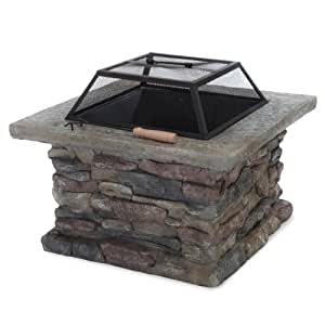 Home Decor Square Gianna Natural Stone Fire Pit