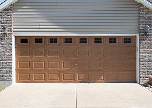 Decorative Magnetic Garage Door Window Panes- Black (2 Car Garage)