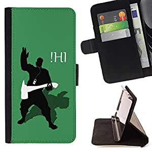 For Motorola Moto X 3rd / Moto X Style - Funny iHi /Leather Foilo Wallet Cover Case with Magnetic Closure/ - Super Marley Shop -