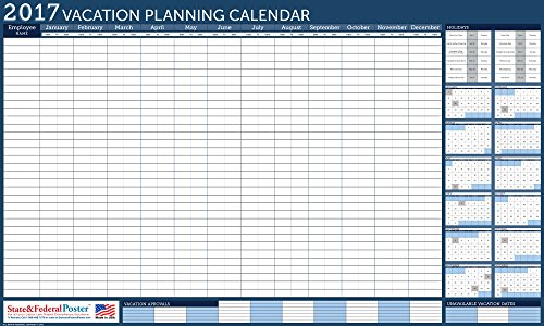 at a glance undated erasable universal vacation scheduler 36 x 24