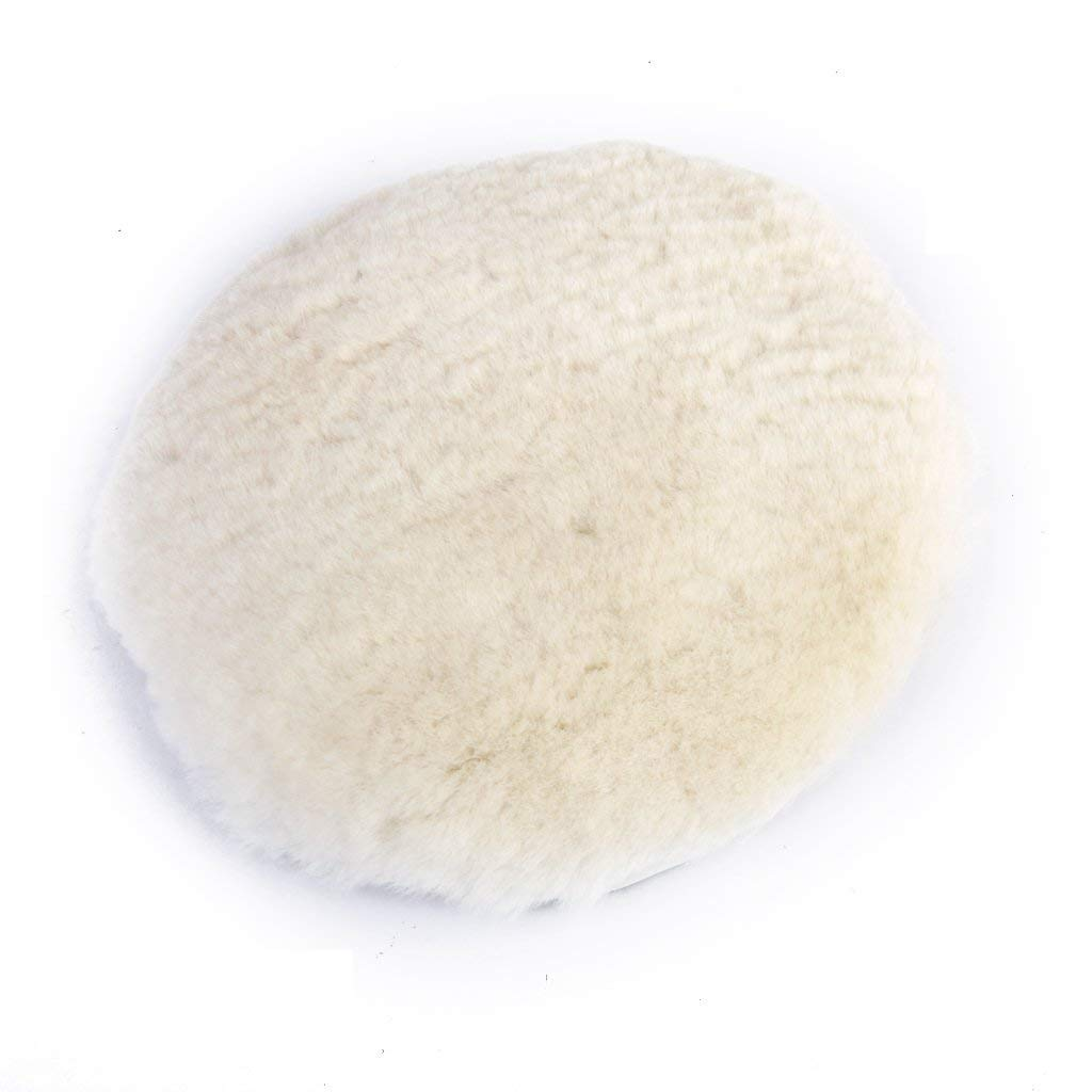 Naisidier Hook and Loop Lambswool Bonnet, 7 inch Wool Polishing Polishers Clean Buffing Pad Bonnet for Car/Glass