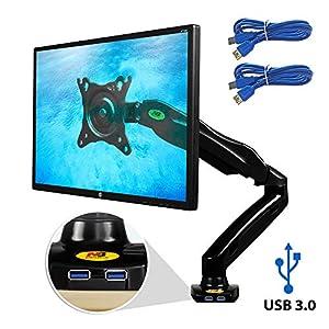 Ergosolid Supporto da scrivania, Braccio per Monitor PC, LCD e LED 2 spesavip