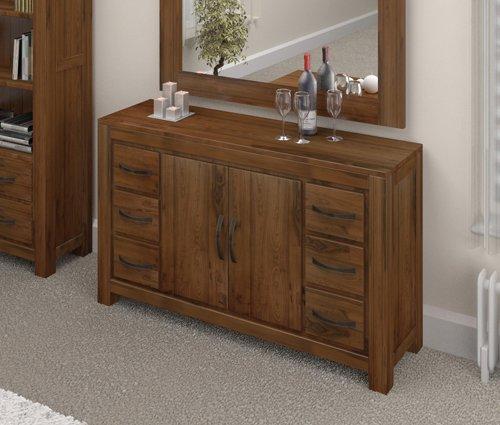 Grand furniture breit, Holz, Massiv, Nussbaum, 6 Schubladen Schrank sideboard