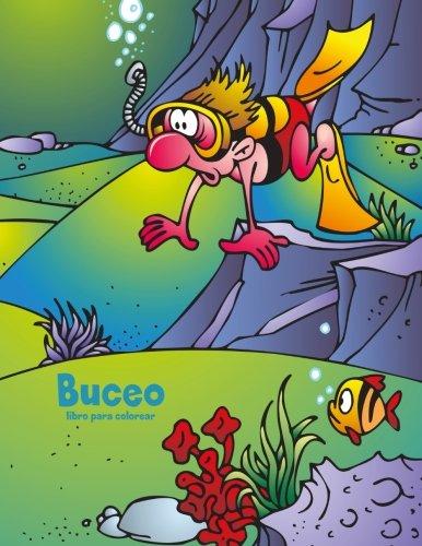 Buceo libro para colorear 1 (Volume 1) (Spanish Edition)