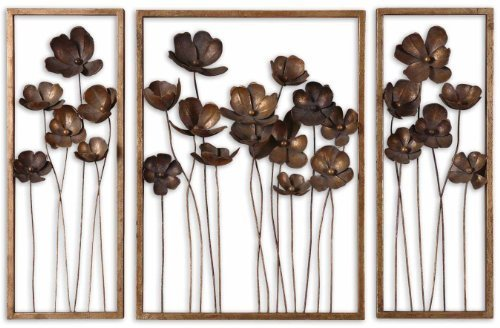 Uttermost Metal Tulips Wall Sculpture, Set of 3 by ()