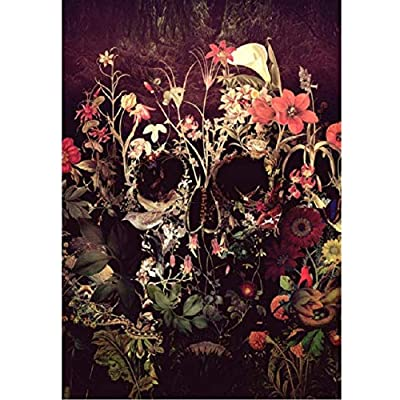 WYBFLF Jigsaw Puzzle 1000 Piece Wooden Puzzle Adults Puzzles Skull Roses Flower Wedding Children Art DIY Leisure Game Fun Toy Suitable Family Friends: Toys & Games