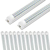 12 Pack SHOPLED 8ft LED Shop Light, 90W 10800LM
