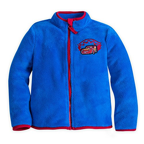 Disney Lightning McQueen Fleece Jacket for Boys Size 7/8 Blue (Kids Disney Clothes)