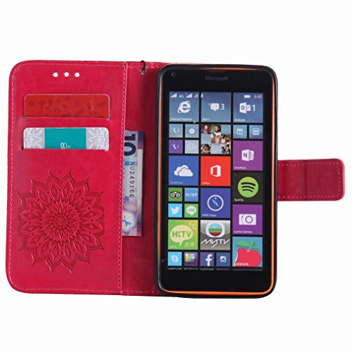 Yiizy Microsoft Lumia 640 LTE Funda, Pétalos Sol Diseño Solapa Flip Billetera Carcasa Tapa Estuches Premium PU Cuero Cover Cáscara Bumper Protector Slim Piel Shell Case Stand Ranura para Tarjetas Esti