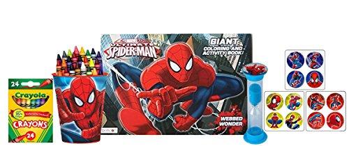 MarvelスパイダーマンGiant Coloring and Activity Book with Matching Crayolaクレヨンカップホルダー。Plus Bonusスパイダーマン` Clean Up `タイマー& Rewardステッカー。の商品画像
