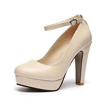 da46ceb5ccd Image Unavailable. Image not available for. Color  Women s Pumps,Ankle Strap  ...