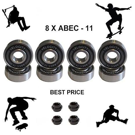 8 x velocidad PRO PREMIUM ABEC 11 cojinetes de rueda 608rs ...