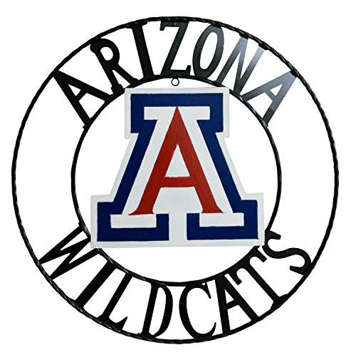 LRT SALES LLC NCAA Arizona Wildcats Licensed Collegiate Wrought Iron Wall Decor, Red/White/Blue, (Arizona Wildcats Wall)