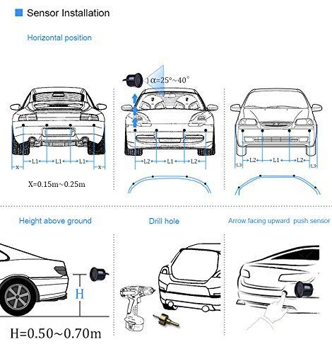 Eunavi Car Reverse Parking Sensor System Car Parking Reverse