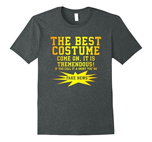 Costume Contest Music (Mens Funny Anti-Trump Anti-Costume Halloween Contest T Shirt XL Dark Heather)