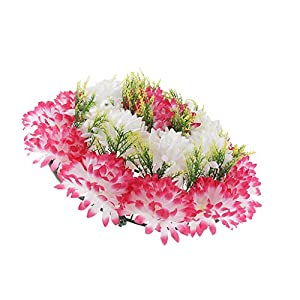 Baoblaze Artificial Handcraft Carnation Flower Arrangements in Grave Cemetery Wreath Flower 1
