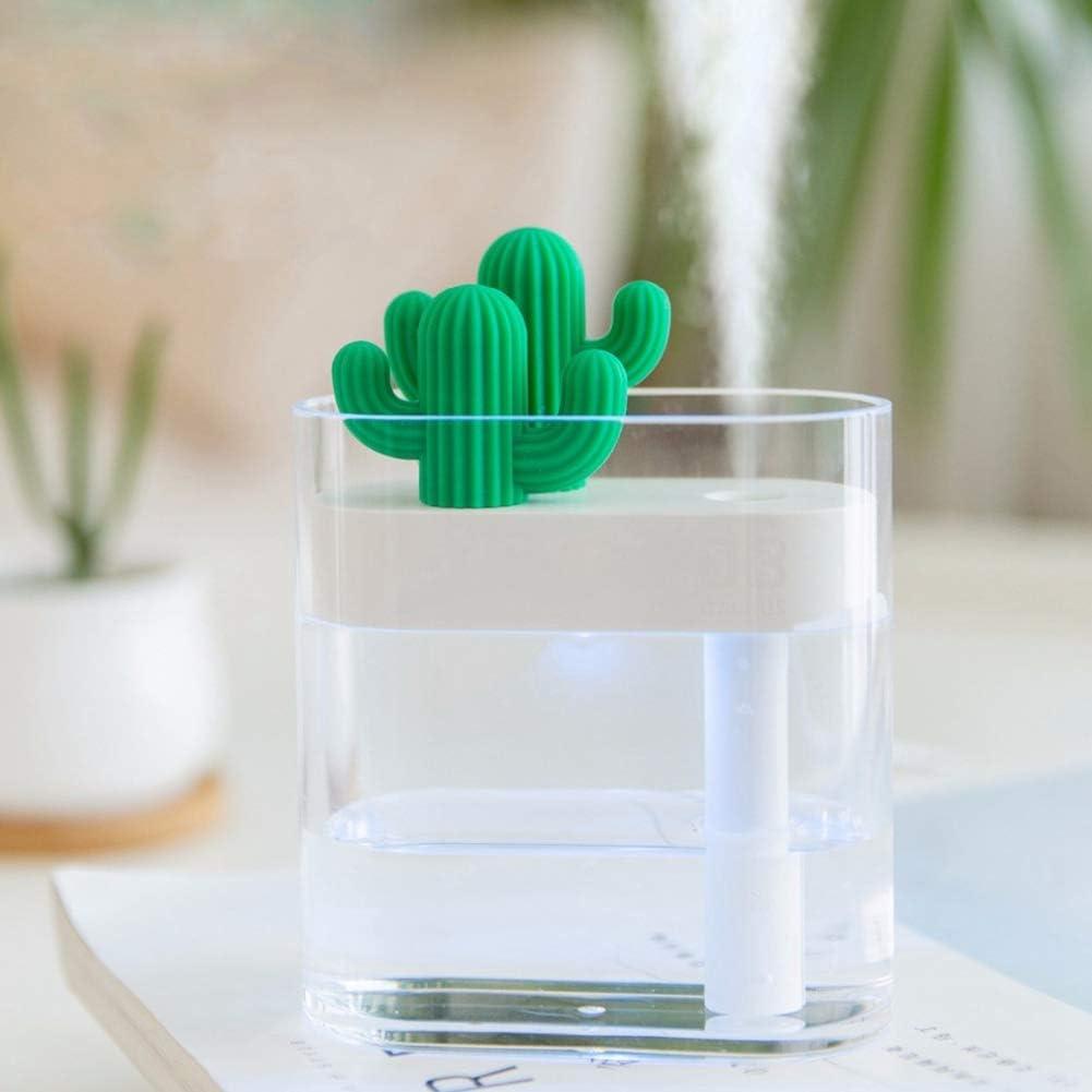 Andifany 160ml Umidificatore Ad Ultrasuoni dAria Chiara Luce di Colore del Cactus USB Diffusore di Olio Essenziale Purificatore Dauto Diffusore di Anioni Diffusore di Anioni