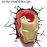 3D Light FX 【IRON MAN 3】アイアンマン3 マスク型ライト <3Dデコライト>アベンジャーズ