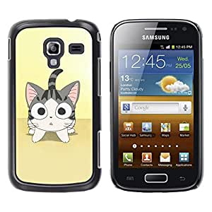 Exotic-Star ( Cute Japanese Anime Cat ) Fundas Cover Cubre Hard Case Cover para Samsung Galaxy Ace 2 I8160 / Ace2 II XS7560M