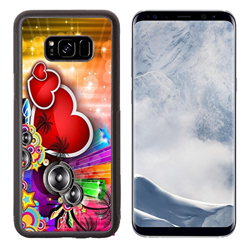 Luxlady Samsung Galaxy S8 Plus S8+ Aluminum Backplate Bumper Snap Case IMAGE ID: 17818767 Valentine s Day party invitation flyer background with love themed elements Ideal for cover -