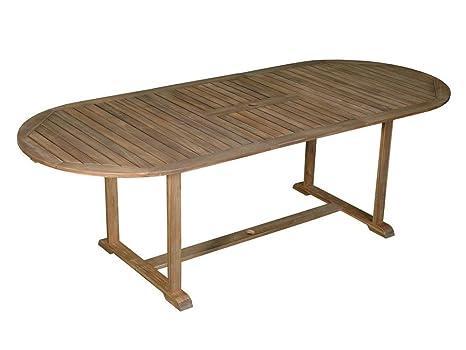 DLM Design Table de Jardin Ovale Extensible 180/237x100cm en ...