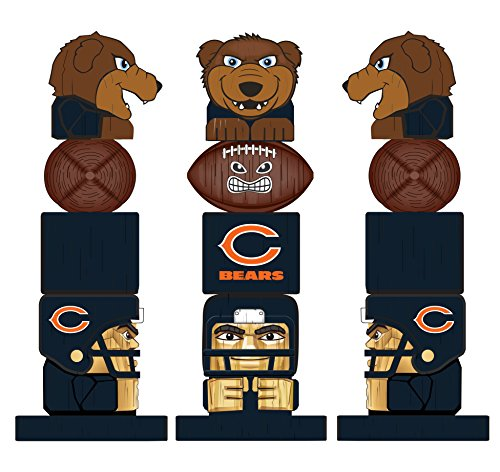 Team Sports America NFL Chicago Bears Tiki Totem
