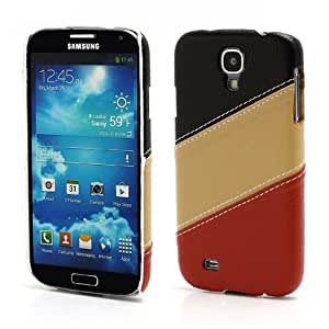 JUJEO Three-color Leather Coated Hard Plastic Case for Samsung Galaxy S4 IV i9500 i9502 i9505, Non-Retail Packaging, Black/Brown/Red
