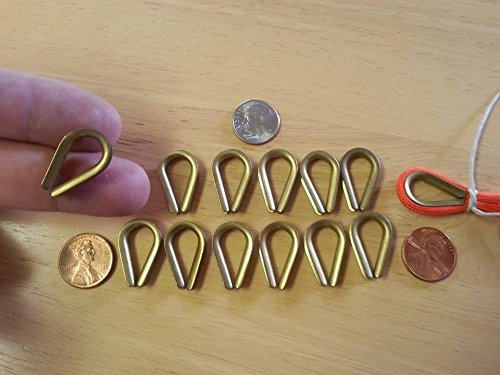 - Brass Rope Thimbles, Solid Brass, (1 Dozen) 2mm Groove, Great for Paracord