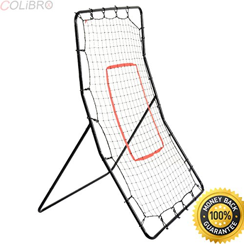 COLIBROX--New Youth Pitching Return Baseball Training Net Pitchback Rebound Throwing Sport. pitch back net walmart. pitch back net amazon. baseball bounce back net. pitching net with strike zone. by COLIBROX