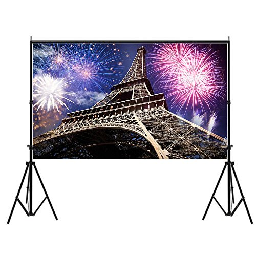 Focussexy 5x7ft Tower and Fireworks Pattern Photography Backdrop