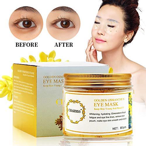 - QueenAcc Collagen Eye Mask, Golden Osmanthus Eye Mask, Golden Osmanthus Moisturizing Eye Mask Anti-aging, Reduce Eye Dark Circles, Improve Eye Bags, Lighten Eye fine wrinkles (80 pcs)