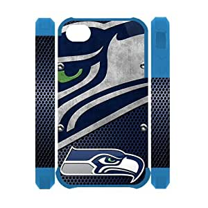 NFL Seattle Seahawks Iphone 4 4S Case Dual Protective Polymer Snap On Image Iphone 4/4S Cases by Maris's Diary