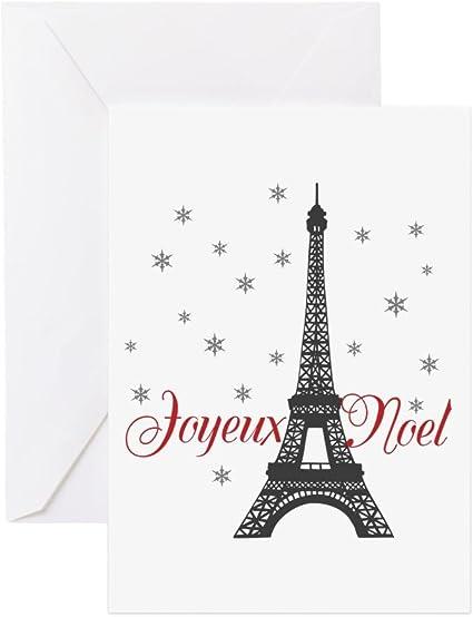 Cafepress Paris Cartes De Vœux De Noel Carte De Vœux Carte De Note Carte D Anniversaire Vierge A L Interieur Brillant Amazon Fr Fournitures De Bureau