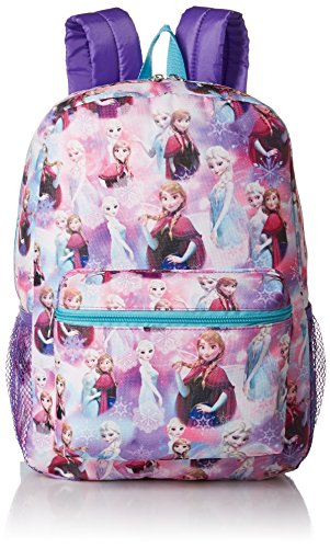 Disney Girls' Frozen All Over Print Backpack
