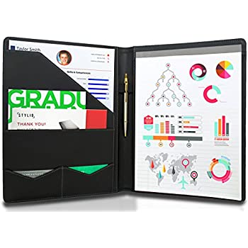Amazon stylio padfolio resume portfolio folder interview stylio padfolio resume portfolio folder interview legal document organizer business card holder colourmoves