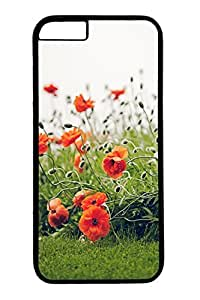 iPhone 6 Case, iPhone 6 Cover, iPhone 6 (4.7 inch) Poppy Hard Black Cases