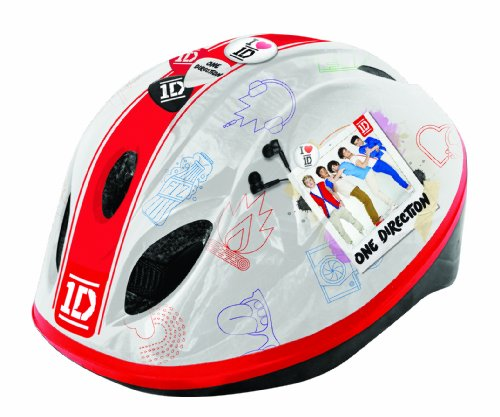 Cheap One Direction Girl's Safety Helmet – Red/white, 52-56cm