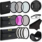 Professional 67MM UV CPL FLD Lens Filters + Neutral Density Set + Close-Up Macro Set, 8 Piece Compact Photography Accessories