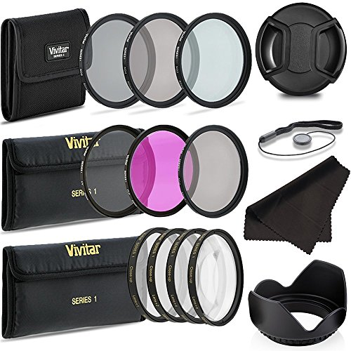 Professional 67MM UV CPL FLD Lens Filters + Neutral Density Set + Close-Up Macro Set, 8 Piece Compact Photography Accessories (Macro Filter Set)