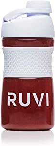 Ruvi Shaker Bottle | Perfect for Blended Smoothies, Protein Powder Shakes & Mixes | Workout Container with Athletic SportGrip | No-Spill, Twistable Cap | 20 oz, Clear