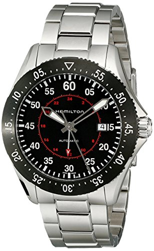 Hamilton Men's H76755135 Khaki Aviation Automatic Stainless Steel Watch,Silver