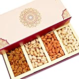 Ghasitaram Gifts Diwali Gifts Dryfruits - Long Fusion 4 part Dryfruit Box