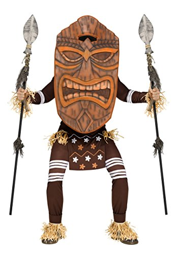 Fun World Men's Tiki Warrior Adult Costume, Multi, Standard]()