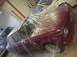 Car Condom 5 Pack Disposable Plastic Car Cover with Elastic Band Medium Size 21 x 12.5